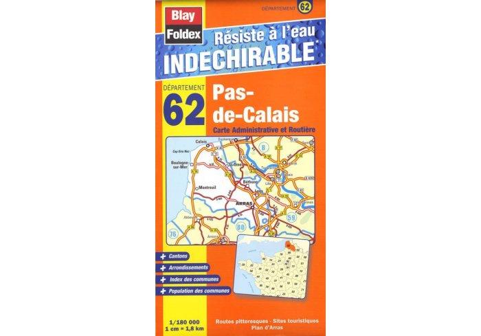 CARTE INDECHIRABLE PAS DE CALAIS