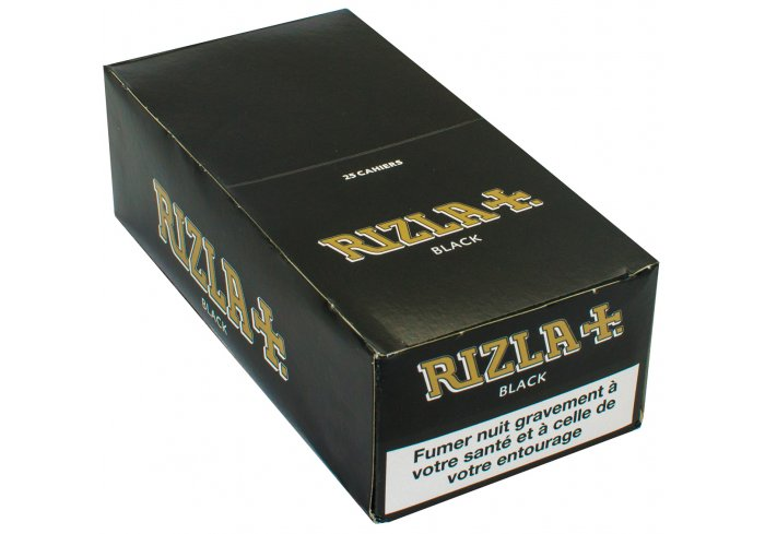 B.100 CAHIERS COURT RIZLA+ BLACK DOUBLE
