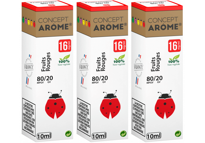3x10ML FRUITS ROUGES 16MG