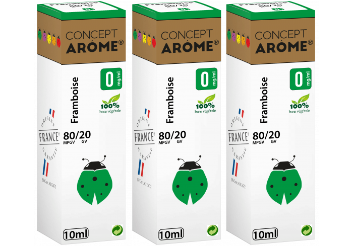 3x10ML FRAMBOISE 0MG