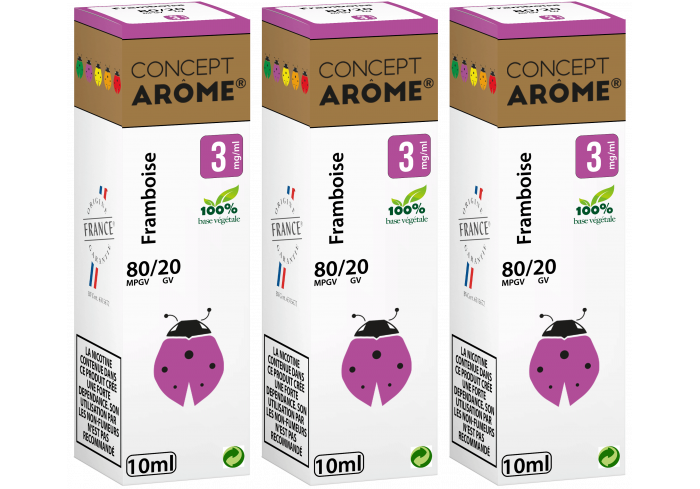 3x10ML FRAMBOISE 3MG