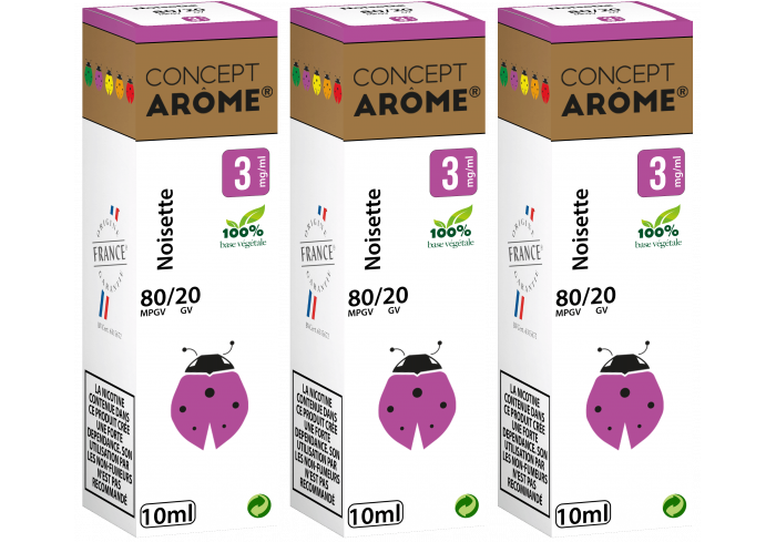 3x10ML NOISETTE 3MG