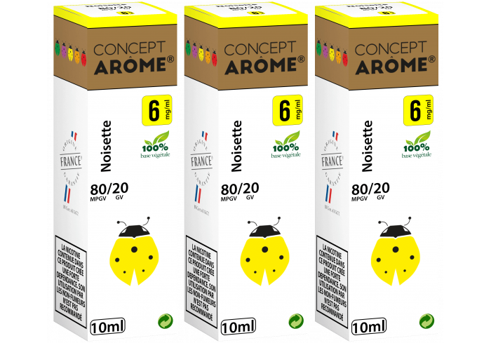 3x10ML NOISETTE 6MG
