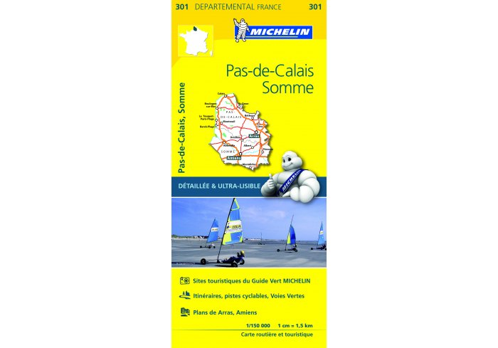 CARTE ROUTIERE MICHELIN PAS DE CALAIS/SOMME