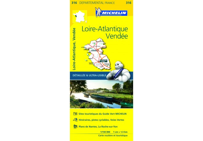CARTE ROUTIERE MICHELIN LOIRE-ATLANTIQUE/VENDEE