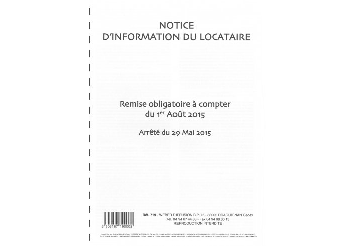 NOTICE D'INFORMATION LOCATAIRE