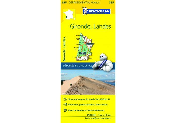 CARTE ROUTIERE MICHELIN GIRONDE/LANDES