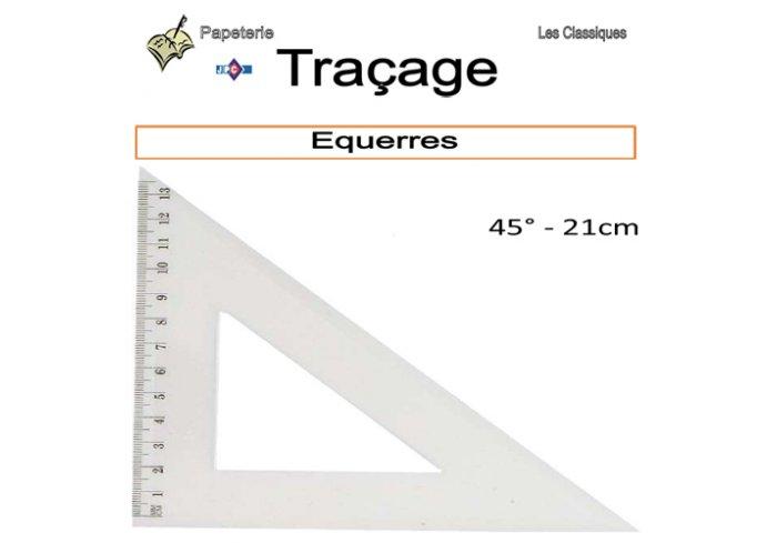 B.12 EQUERRES 45° 21CM
