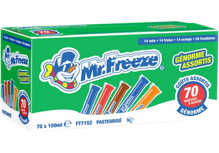 B.70 MISTER FREEZE 150ML ASSORTIS