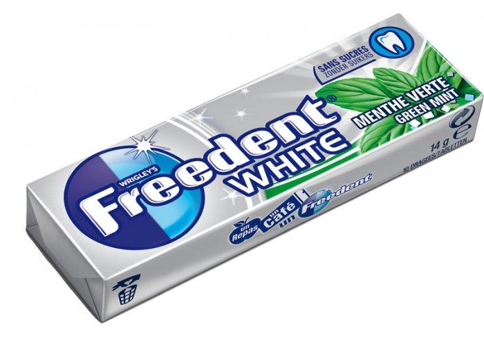 B.30 ET 10D FREEDENT WHITE MENTHE VERTE