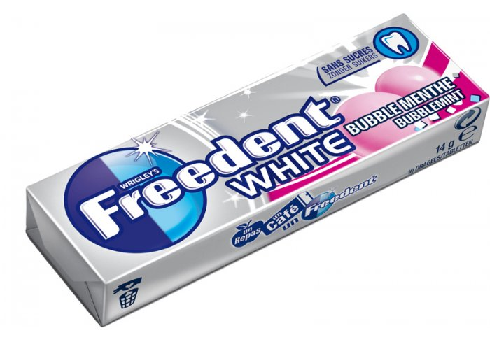 B.30 ET FREEDENT WHITE BUBBLE