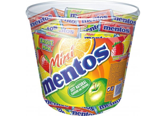 TUBO 120 MINI MENTOS FRUIT MIX
