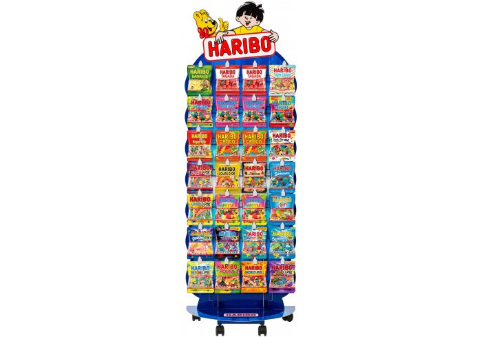 PRESENTOIR HARIBO 720 SACHETS GM ASSORTIS