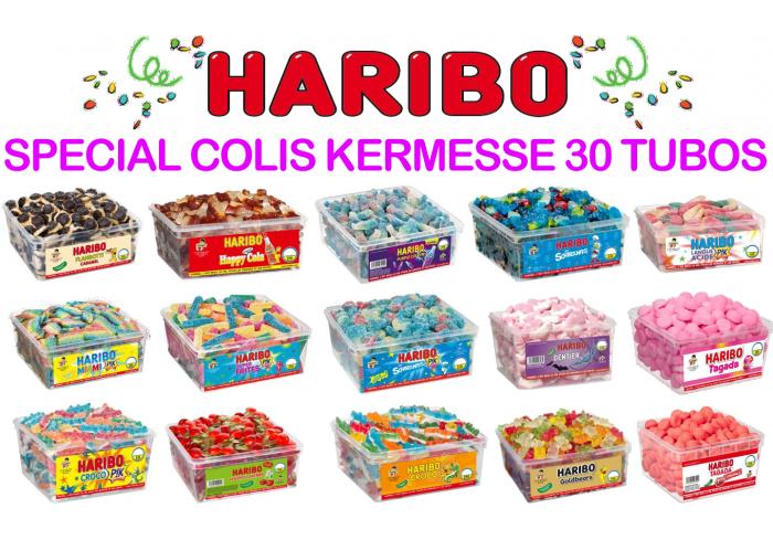 COLIS HARIBO KERMESSE 30 TUBOS