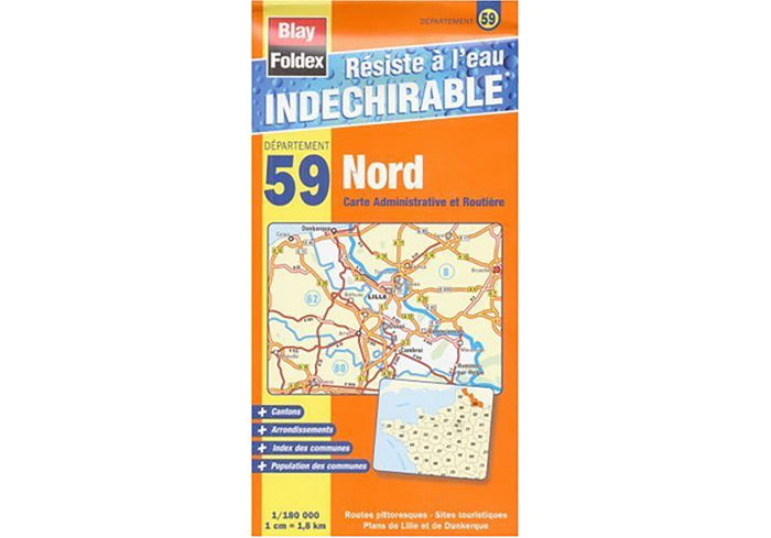 CARTE INDECHIRABLE NORD