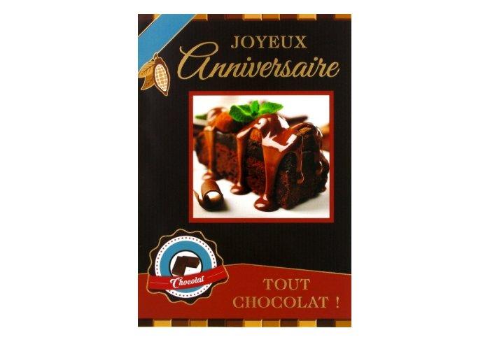P.6 CARTE ANNIVERSAIRE / CHOCOLAT