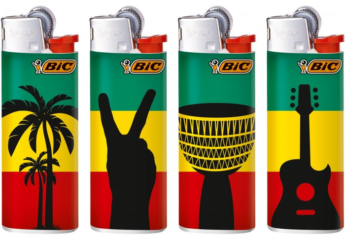 B.50 MINI BIC J25 REGGAE FLAG