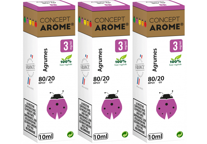 3x10ML AGRUMES 3MG