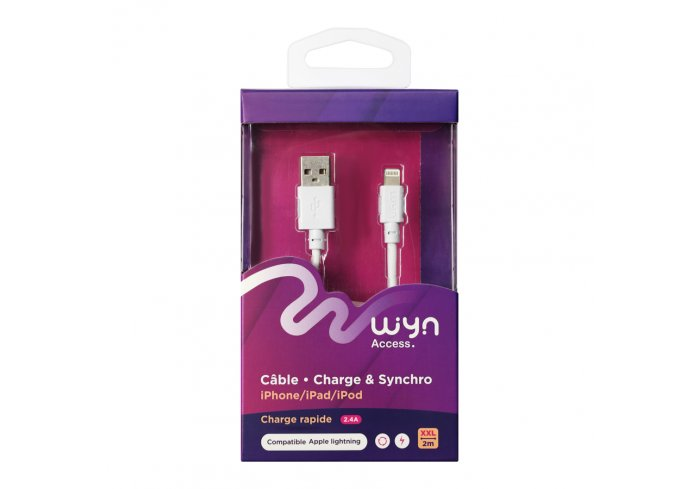 CABLE IPHONE XXL 2m