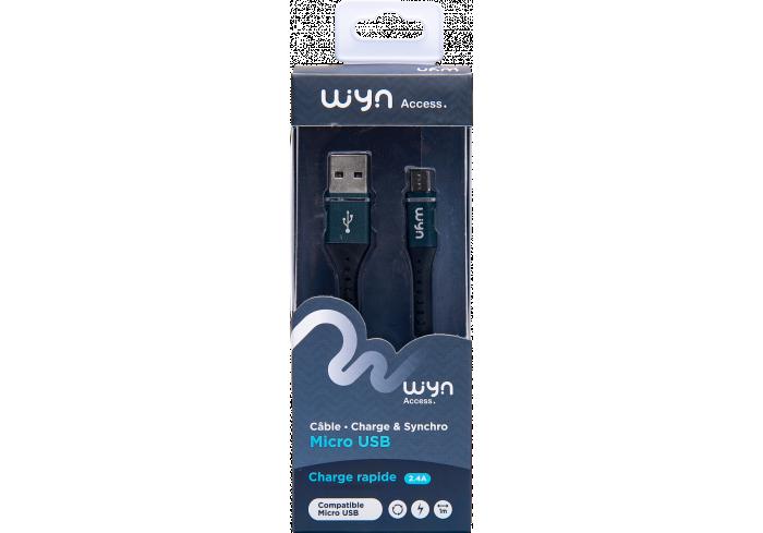 CABLE TRESSE USB NOIR WYN