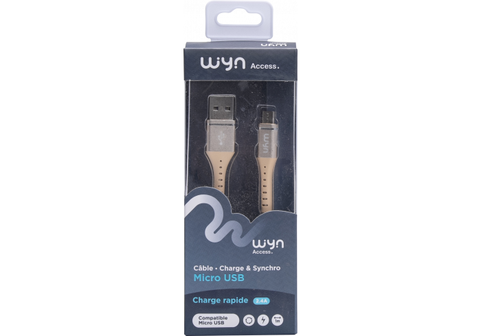 CABLE TRESSE USB GOLD WYN