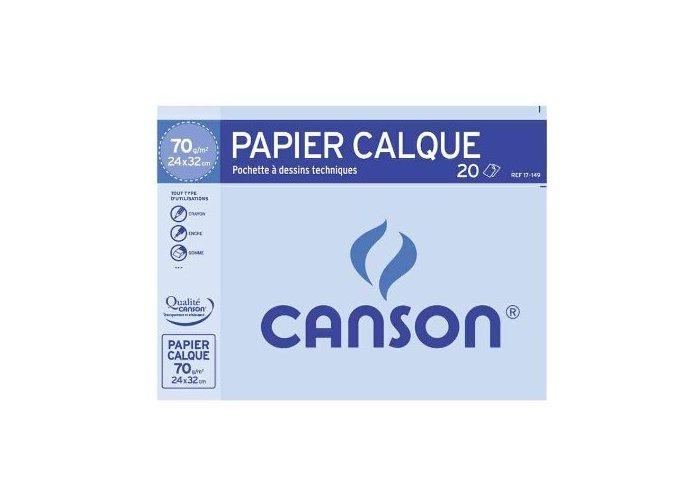 P.10 POCH. CALQUE 24X32 70G