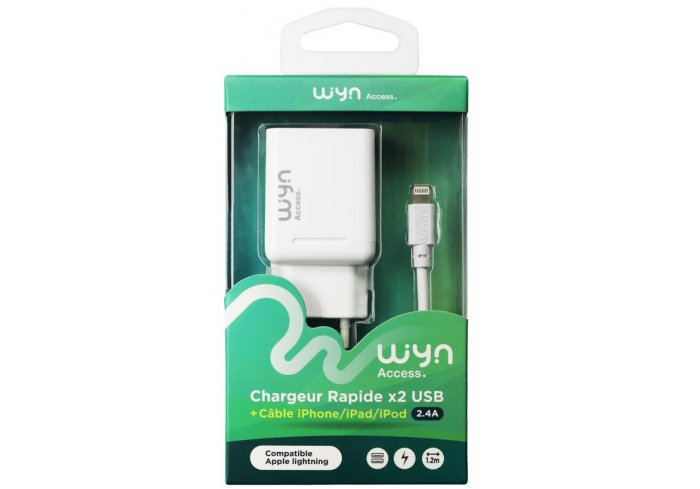 CHARG.SECTEUR+CABLE LIGHTNING