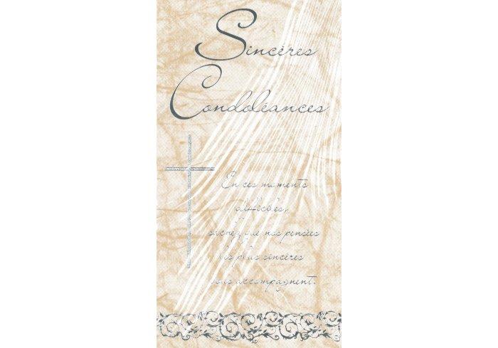 CARNET DE CONDOLEANCES CROIX + TEXTE