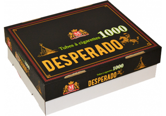 LOT 5 HARD BOX 1000 TUBES DESPERADO