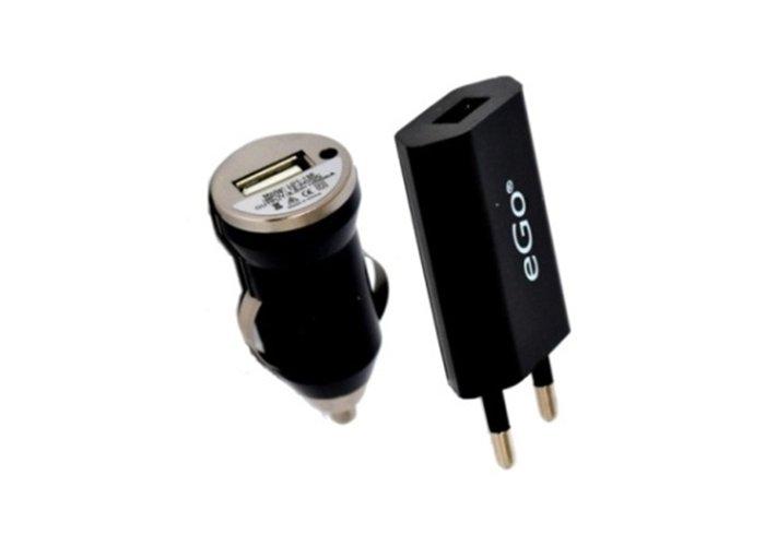 CHARGEUR USB SECTEUR + VOITURE
