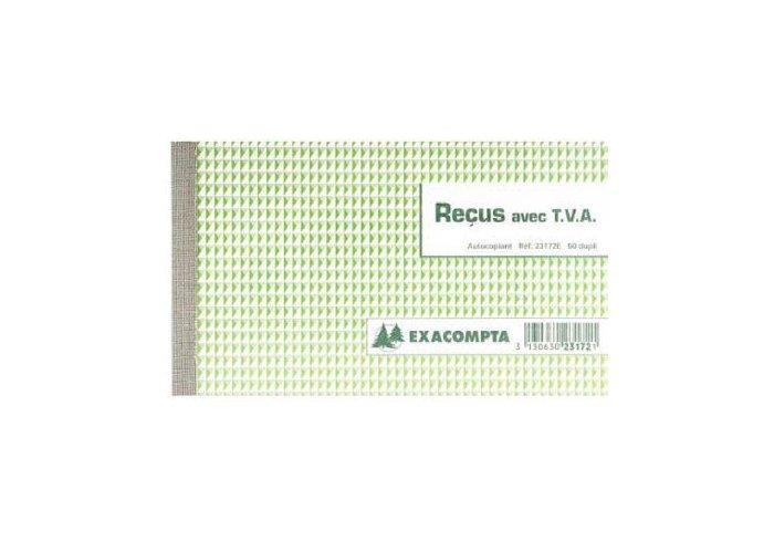 BON DE RECUS DUPLI 105X18 TVA