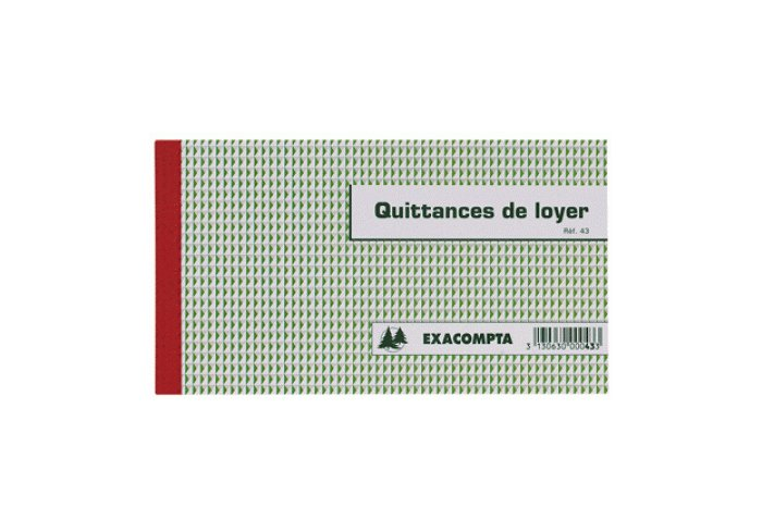QUITTANCES LOYER 11.8X21 TRIPLI