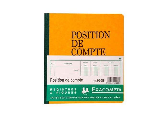 PIQ.80P.21X19 RECET/DEP.POSITION COMPTE