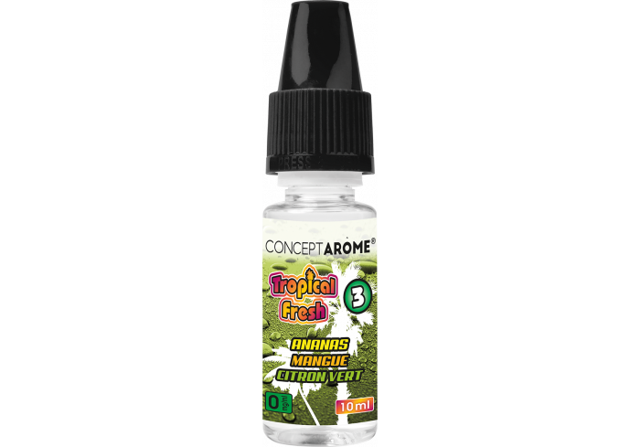 3x10ML TROPICAL FRESH N°3 0MG