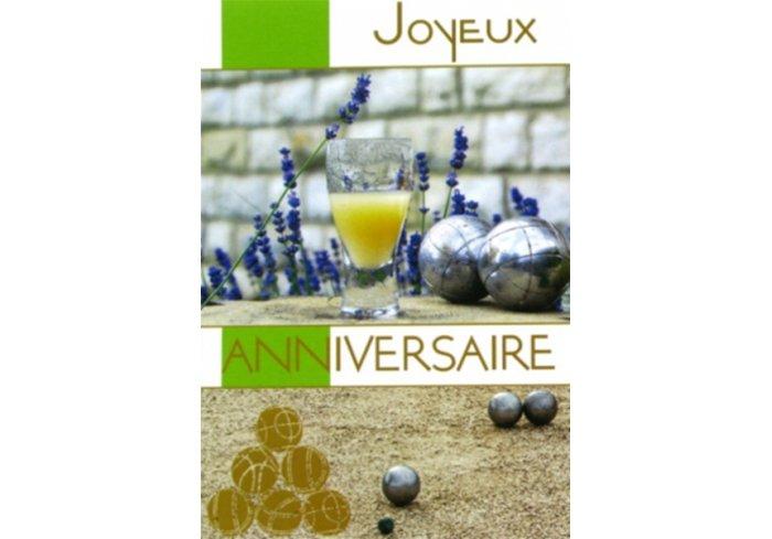 CARNET D'ANNIVERSAIRE HOMME - PETANQUE