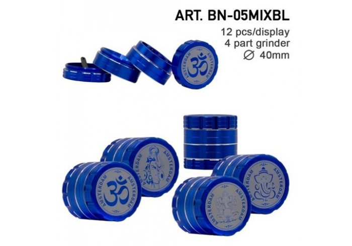 BTE 4 PART 40MM GLASS BLEU
