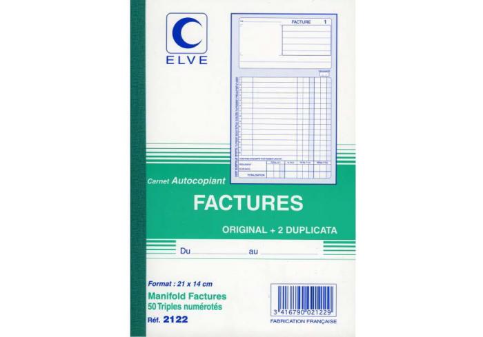 FACTURIER A5 210*140 ELVE TRIPLI