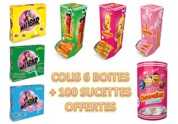 COLIS 6 BOITES MALABAR CARAMBAR