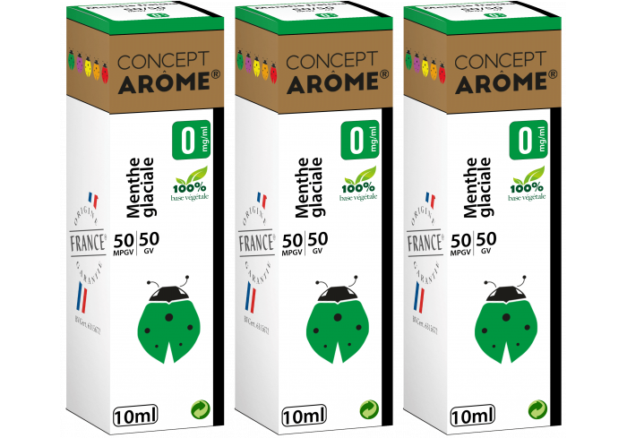 3xFL 50/50 MENTHE GLACIALE 00MG