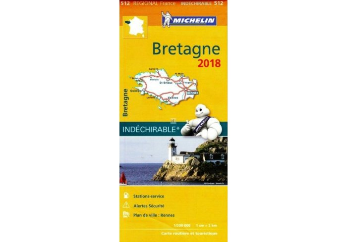 CARTE ROUTIERE MICHELIN BRETAGNE