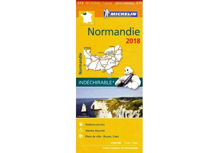 CARTE ROUTIERE MICHELIN NORMANDIE