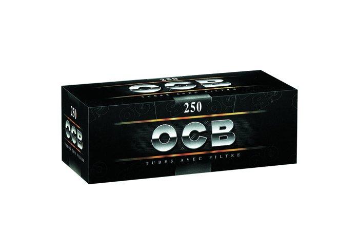 C. DE 40 BOITES DE  250 TUBES OCB NOIR