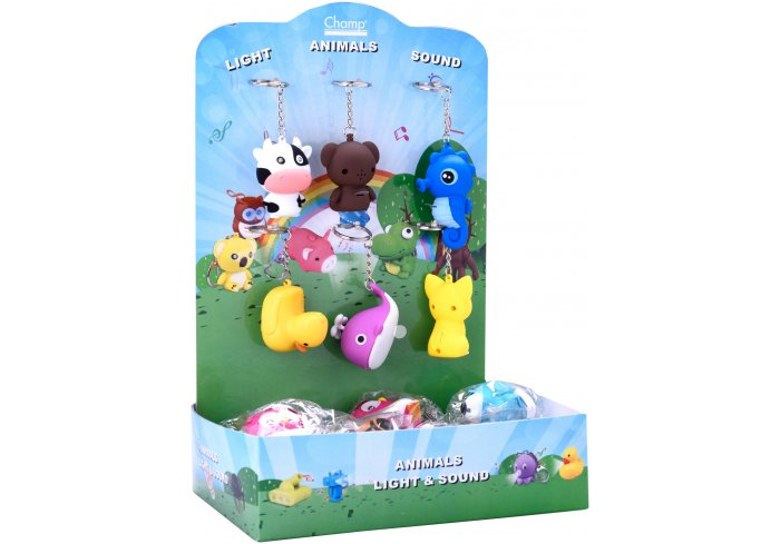 PR.24 PORTE-CLES ANIMALS LED