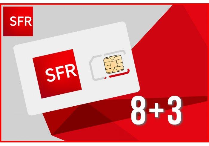 OFFRE SPECIALE 8+3 SIM SFR