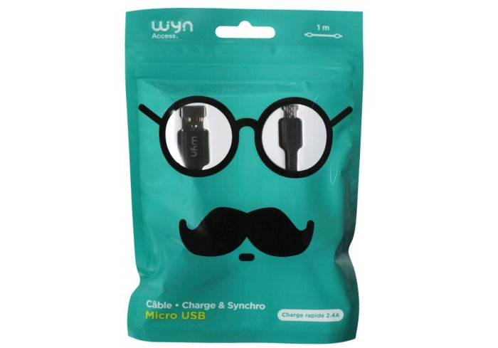 CABLE MICRO USB SMILE WYN