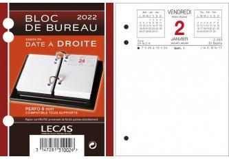 BLOC DATE A DROITE 8.50 x 11.50 CM