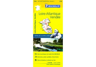 CARTE ROUTIERE MICHELIN LOIRE-ATLANTIQUE/VENDEE