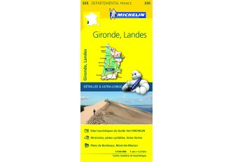 CARTE ROUTIERE MICHELIN GIRONDE/LANDES