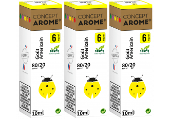 3x10ML GOUT AMERICAIN 6MG