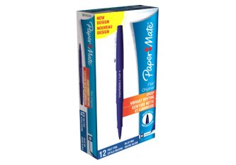 B.12 PAPER MATE NYLON FLAIR BLEU